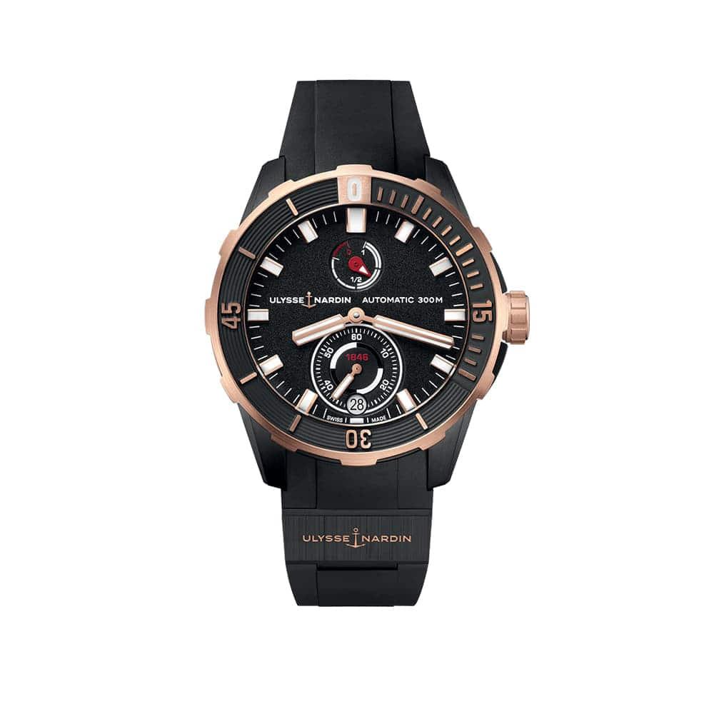 Часы Diver Сhronometer 44 mm Ulysse Nardin 1185-170-3/BLACK