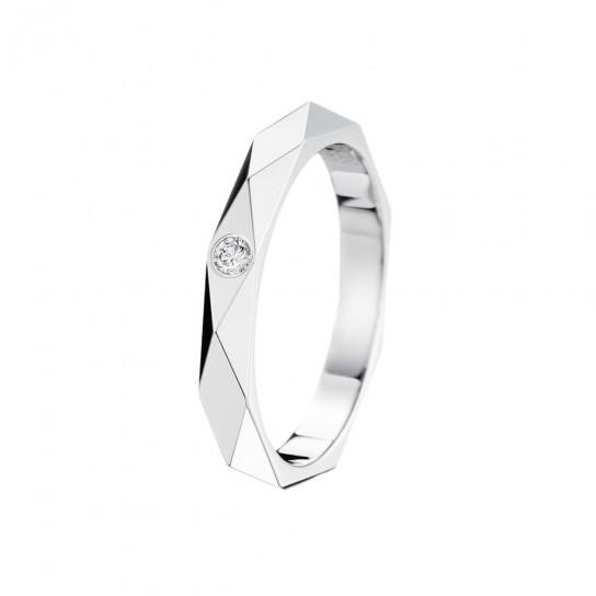 Кольцо обручальное Facette