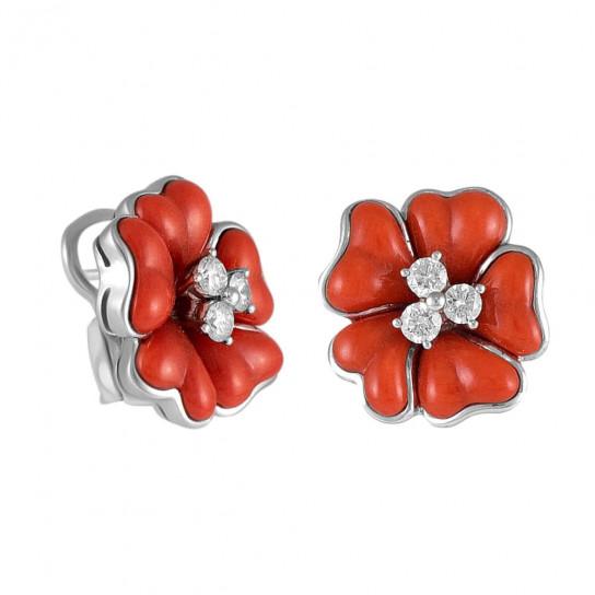 Серьги Flower