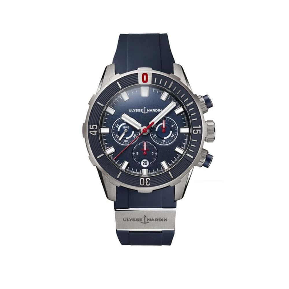 Часы Diver Chronogгaph 44mm Ulysse Nardin 1503-170-3/93