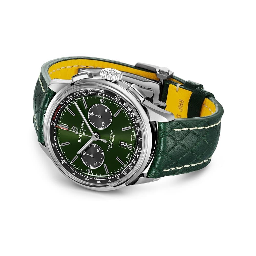Часы  Premier B01 Chronograph 42 Bentley British Racing Green Breitling AB0118A11L1X1 - 2