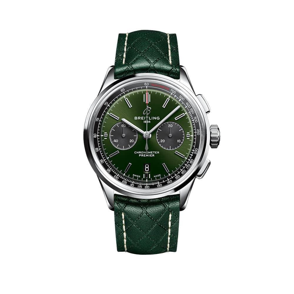 Часы  Premier B01 Chronograph 42 Bentley British Racing Green Breitling AB0118A11L1X1 - 1