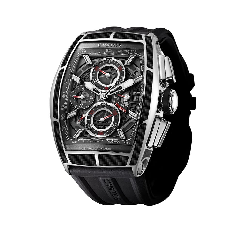 Часы Challenge GT Chrono II Steel Carbon  Cvstos Challenge GT Chrono II