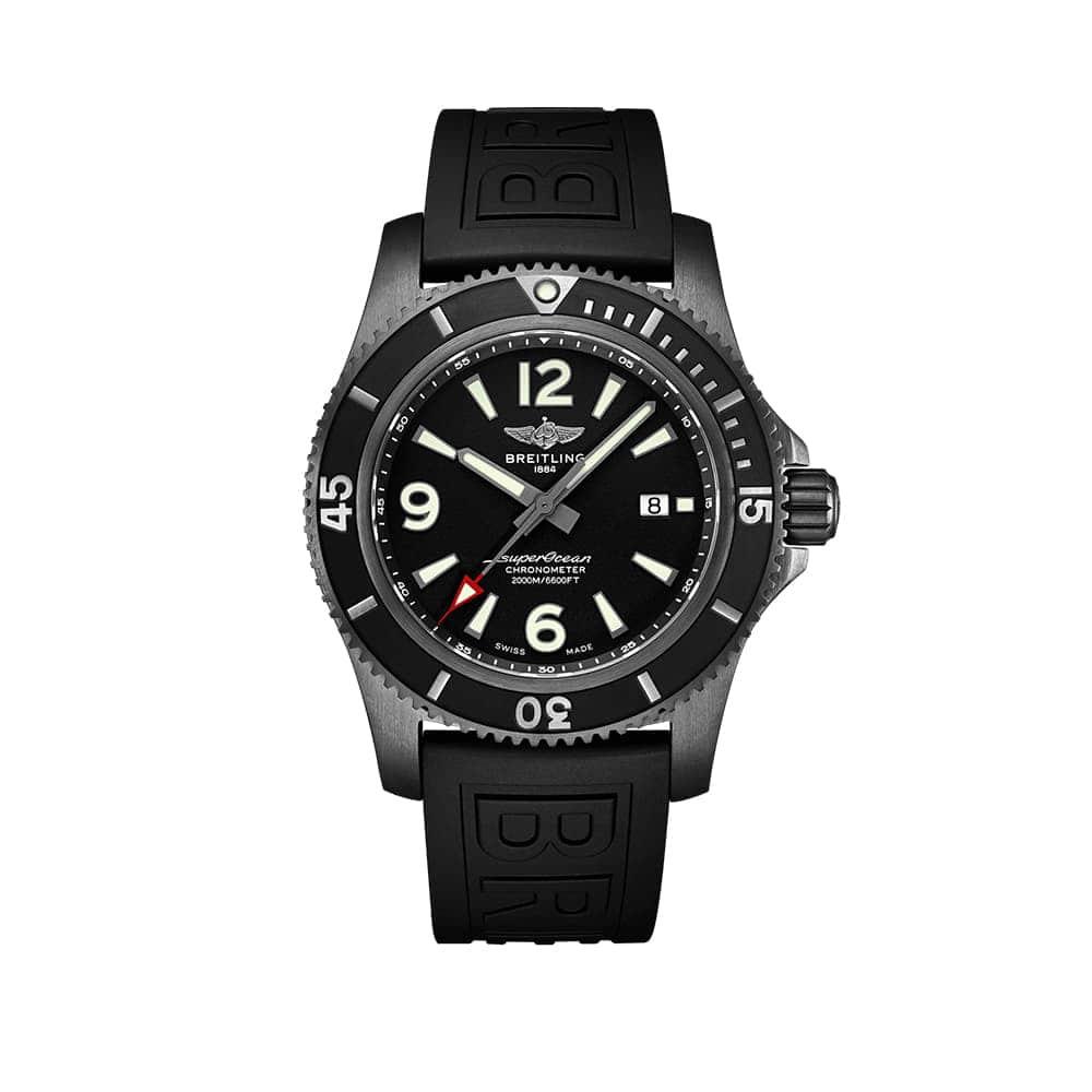 Часы  Superocean Automatic 46 Black Steel Breitling M17368B71B1S2