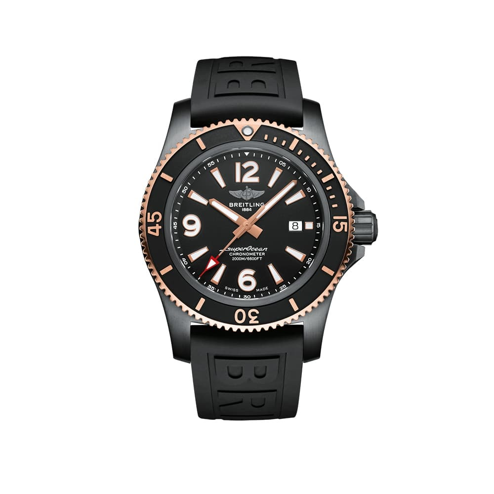 Часы Superocean Automatic 46 Black Steel Breitling U17368221B1S1