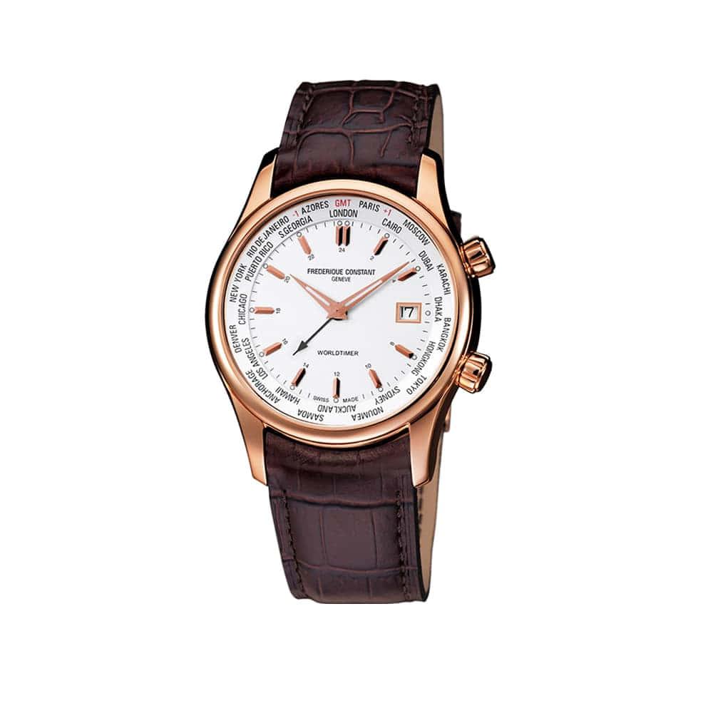 Часы Index Worldtimer Quartz Frederique Constant FC-255V6B4