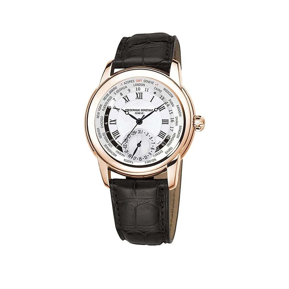 Часы Classic Manufacture Worldtimer Frederique Constant FC-718MC4H4