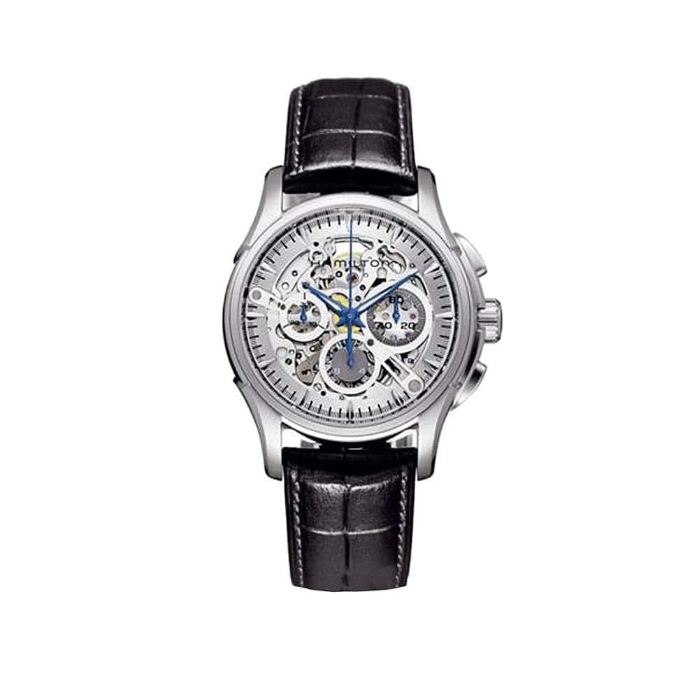 Часы JazzMaster Skeleton Chrono Auto Hamilton H32676791