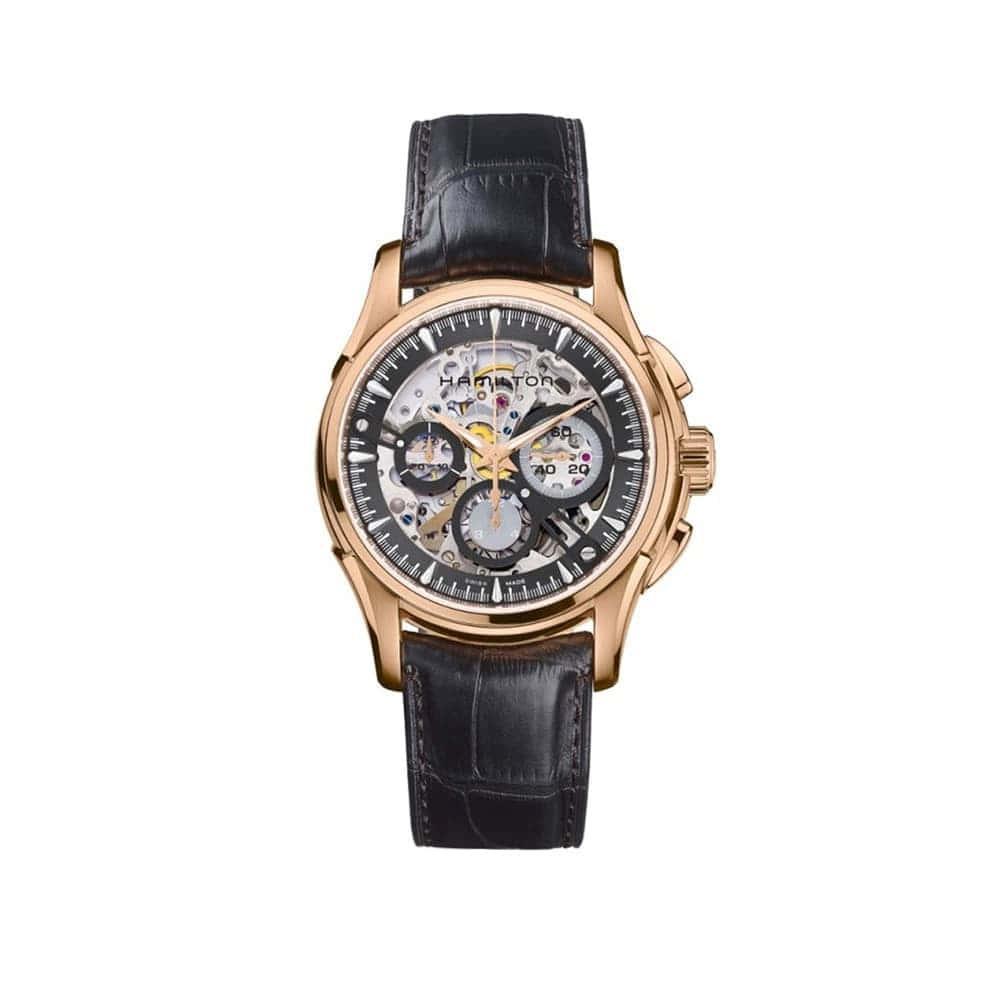 Часы JazzMaster Skeleton Chrono Auto Hamilton H32686791
