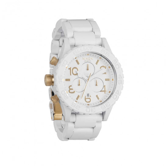 Часы  A037-2035 4220 CHRONO All White/Gold