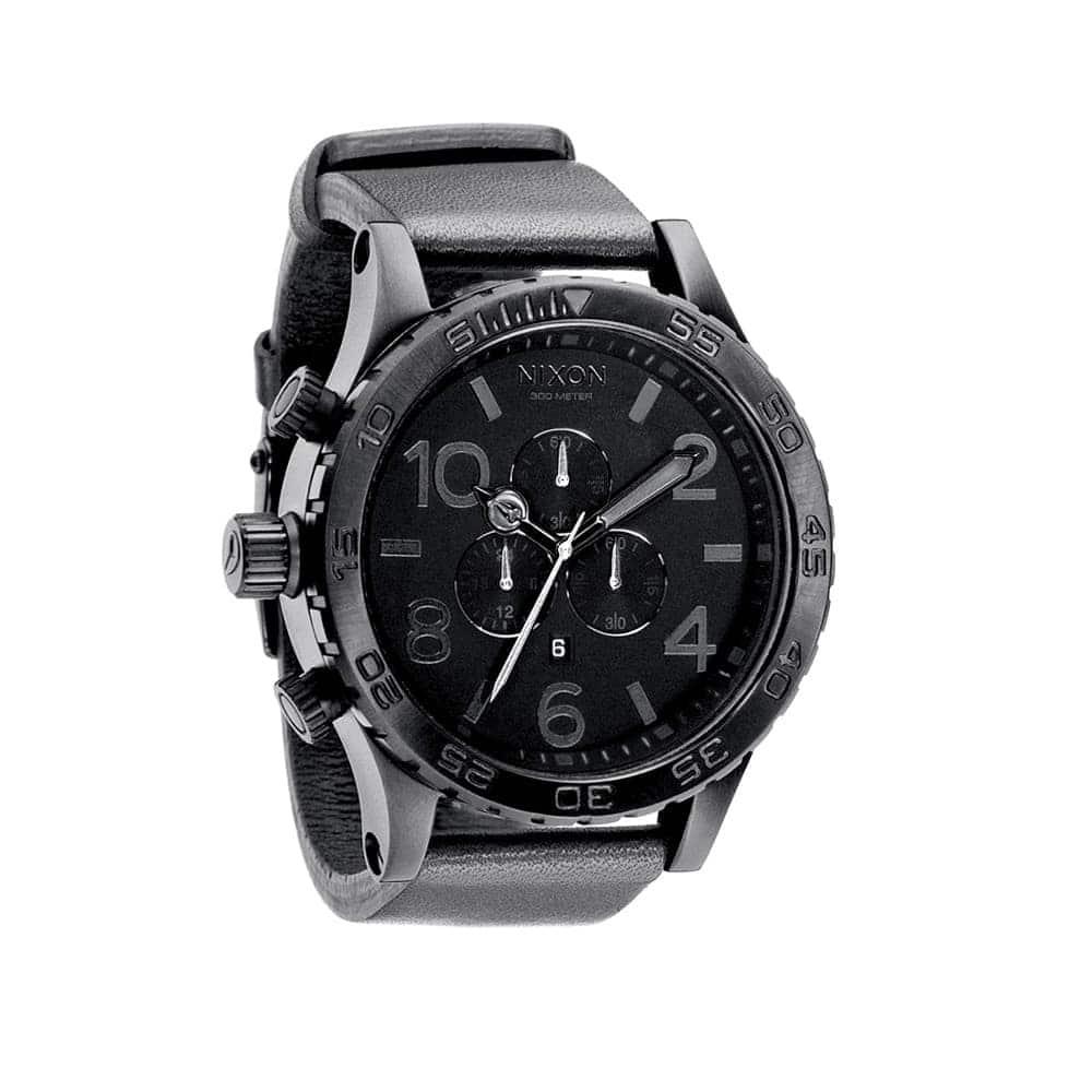 Часы A124-1000 51-30 CHRONO LEATHER Black NIXON A124-1000