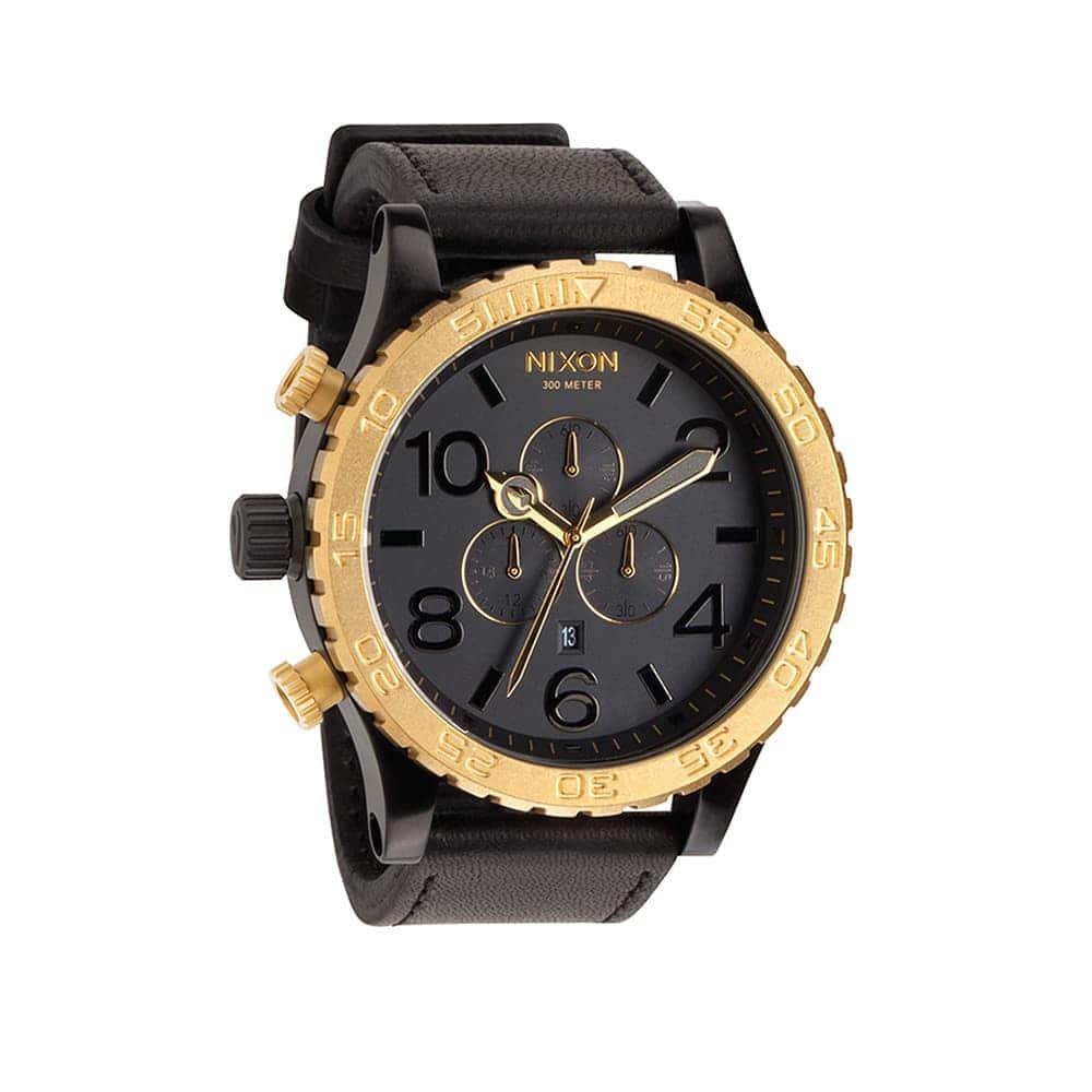 Часы A124-2036 51-30 CHRONO LEATHER Black/Raw NIXON A124-2036