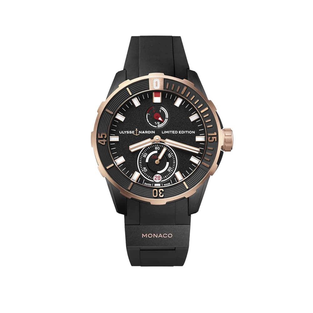 Часы Diver Сhronometer 44 mm Ulysse Nardin 1185-170LE-3/BLACK-MON